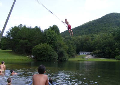 Everyone loves the rope swing
